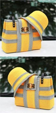 Crochet handbags 344595808990944085 - Easy and Attractive Free Crochet Pattern Source by Manuvellevie Crochet Girls, Free Crochet, Knit Crochet, Crotchet Bags, Knitted Bags, Crochet Handbags, Crochet Purses, Easy Crochet Patterns, Crochet Designs
