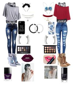 """""""Twins!!!!"""" by skylerlasiter on Polyvore featuring WithChic, Puma, Casetify, Lokai, Charlotte Russe, Latelita, Maybelline, MAC Cosmetics, Lime Crime and Fiebiger"""