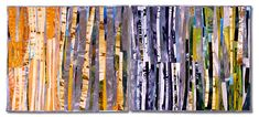 Patty Hawkins: Textile Artist - Aspen Seasons #1 and #2 (diptych) - Quilt National 2003