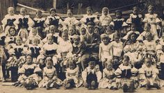 Czech school children, early 20th c. - many still in traditional garb.   Antique, Real Photo Postcard by PainterPoetMuse, $16.00