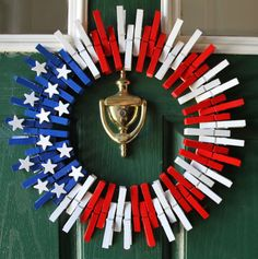 4th of July Wreath Fourth of July Wreath by GlitterGlassAndSass