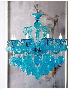 lustre azul turquesa