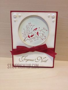 Stampin Up Serene Silhouettes with a Christmas twist created by Wendie Bee of Stamp Right Up for a DIY card making workshop