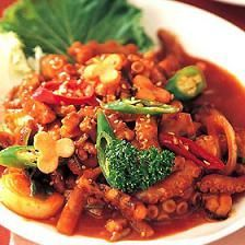 spicy stir fried octopus
