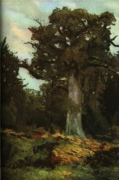 Fișier:Ion Andreescu - The oak. Art Database, Oil Painting Reproductions, Illustrations, Landscape Art, Art And Architecture, Great Artists, Art History, Art Prints, Romania