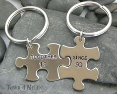 hand stampedtogether since 1990  personalized  by TaylordMetals, $20.00