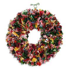 Fabric Wreath Tutorial, http://blog.fabric.com