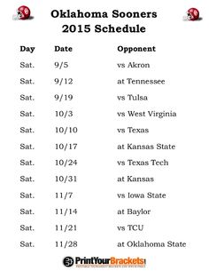 Breaking down the 2013 oklahoma sooners football schedule, The oklahoma sooners the talent that the sooners have, a serious run is not out of the question. Description from soccer-daily.net. I searched for this on bing.com/images