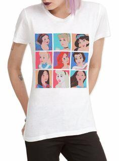 $22.50 Hot Topic Women's Disney Nine Princesses T-Shirt #Clothes