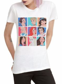$22.50 Hot Topic Women's Disney Nine Princesses T-Shirt #Clothes