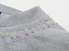 Petite Blasa: DIY: Sudadera con bordados Diy Embroidery Stitches, Embroidery Art, Embroidery Patterns, Girls Gallery, Diy Fashion, Dyi, Sewing Projects, Creativity, Textiles