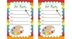 Art Party Printables - http://www.pbs.org/parents/birthday-parties/art-birthday-party/printables/