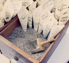 Use book pages and put flower of your choice or rice to throw after the wedding!