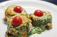 Überbackene Champignons mit Spinatfüllung | vegane Rezepte in Hauptgerichte