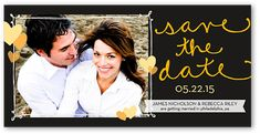 Playful Frame 4x8 Photo Card | Save the Date