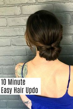 10 Minute Quick and Easy Hair Updo Tutorial Learn how to create this easy and elegant hair updo. Casual Updos For Medium Hair, Hair Tutorials For Medium Hair, Easy Updos For Long Hair, Up Dos For Medium Hair, Medium Hair Styles, Long Hair Styles, Medium Hair Updo Easy, Casual Updos For Long Hair, Casual Wedding Hair