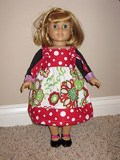 girl knot, knot dress, doll cloth, craft, girl doll, dress tutorials, dresses, knots, american girls