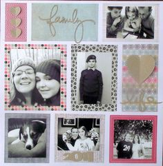 Family idea: multi photo layout, easy to do mirrored 2 page