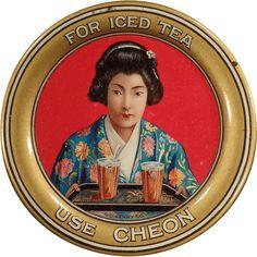 Old Tip Tray - Oriental Tea Advertising - Cheon