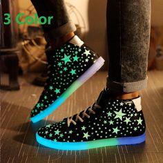 cheap for discount 57c85 a68fb Led Lights In Shoes A018 Zapatos Con Luces, Zapatos Casuales, Zapatillas  Bonitas, Zapatillas
