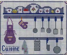 × Kitchen Decor - Home creative ideas Cross Stitch Kitchen, Cross Stitch Books, Cross Stitch Borders, Cross Stitch Flowers, Cross Stitch Designs, Cross Stitching, Cross Stitch Patterns, Beaded Cross Stitch, Cross Stitch Embroidery
