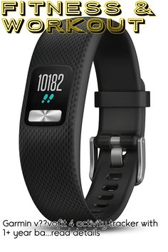 Garmin v??vofit 4 activity tracker with 1+ year battery life and color display. Small/Medium, Black. 010-01847-00 ... (This is an affiliate link) #fitnessaccessories