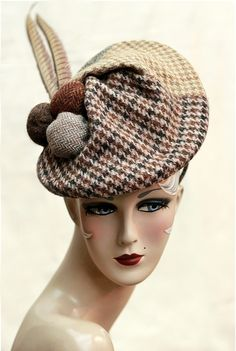 #millinery #madeinuk #harristweed #handcrafted #uniqueheadwear www.saratiara.com Fascinator Headband, Fascinators, Headpieces, Hats In The Belfry, Types Of Hats, Cocktail Hat, Berets, Love Hat, Dress Hats