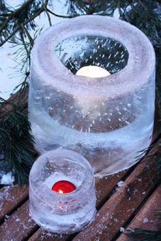 Mason Jar Lanterns - 9 Easy-to-Make Garden Luminaries - Bob Vila Outdoor Christmas, Christmas Crafts, Christmas Decorations, Snow Crafts, Christmas Greenery, Natural Christmas, Holiday Decorating, White Christmas, Diy Crafts