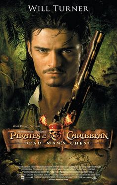 Orlando Bloom as Will Turner in Pirates of the Carribean Will Turner, Films Cinema, Cinema Tv, Captain Jack Sparrow, Orlando Bloom, Classic Movie Posters, Film Posters, Walt Disney Pictures, Pirate Life