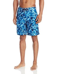 Surfside Supply Company Mens Photo Print Swim Trunks with Lining Indigo XXLarge ** You can find out more details at the link of the image.