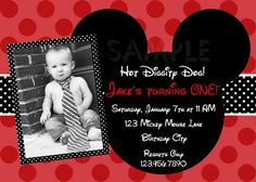 birthday invites for boys | Printable Birthday Invitations, Boys Mickey Mouse Party Invites, photo ...