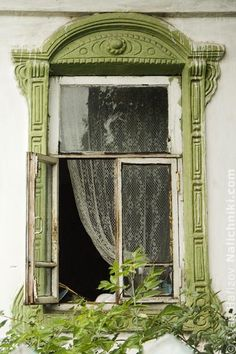 Carved wooden window trim (Nalichnik) from Navashino #5
