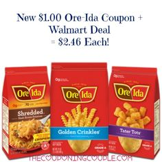 Print a new $1.00/2 Ore-Ida Potatoes coupon! My kids are going to love that I am going to stock up with Tator Tots at Walmart with this coupon!  Click the link below to get all of the details ► http://www.thecouponingcouple.com/ore-ida-potatoes-coupon-walmart-deal-2-46/  #Coupons #Couponing #CouponCommunity Visit us at http://www.thecouponingcouple.com for more great posts!
