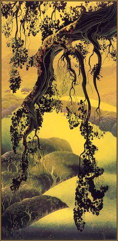 Eyvind Earle Tree / landscape