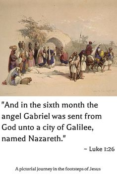 """Mary's Fountain, Nazareth, by David Roberts 