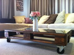 Pallet coffee table #DIY #pallet #coffeetable