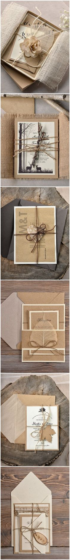Top 30 Rustic Country Wedding Invitations