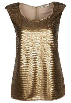 Oasis gold sleeveless top
