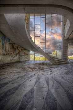 Floating Stair, Abandoned Restaurant