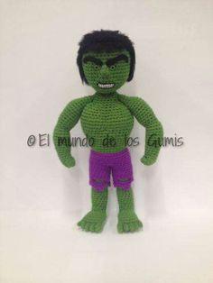αρκουδακια Hulk, Crocheted Toys, Elmo, Loom Knitting, Dinosaur Stuffed Animal, Best Friends, Goodies, Crochet Patterns, Batman