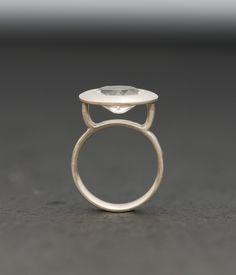 White Topaz Ring - Silver - Size 5.5. $140.00, via Etsy.