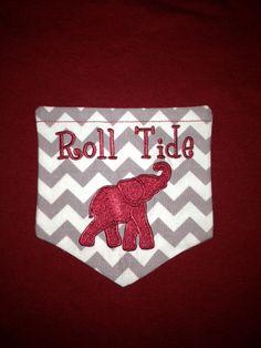 Alabama monogrammed pocket Tshirt by ddenson on Etsy, $23.00