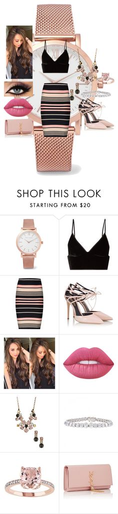 """Running Out of Time"" by jujuxx33 ❤ liked on Polyvore featuring Larsson & Jennings, T By Alexander Wang, Miss Selfridge, Fratelli Karida, Lauren Conrad, Lime Crime, Sorrelli, Cartier and Yves Saint Laurent"