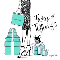 Friday at Tiffany's by Megan Hess Illustration @tiffanyandco