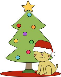 christmas clip art santa behind a christmas tree clip art santa rh pinterest com clipart of christmas decorations clipart of christmas symbols