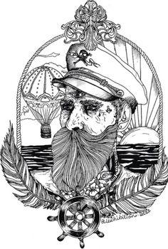 Sketch marine tattoo
