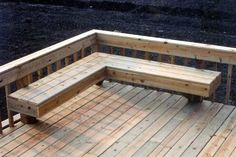 Image Detail for - Decks Deck Building Cary Barrington McHenry Schaumburg Palatine . Deck Bench Seating, Outdoor Seating, Outdoor Decor, Outdoor Toys, Outdoor Cushions, Wood Benches, Rustic Bench, Seating Areas, Cool Deck