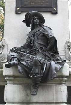 Detail of the statue of Alexandre Dumas, father, Paris XVII - Gustave Doré - Art Sculpture, Clay Sculptures, Famous Sculptures, Louis Xiv, Roi Louis, Oeuvre D'art, Sculpting, Medieval, Fine Art