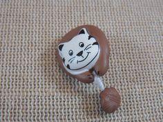 2pcs, Boutons chat, boutons pelote, boutons chat marron et gris 28mm, boutons enfants, boutons à anneaux, bouton UnionKnopf, boutons layette de la boutique ArtKen6L sur Etsy