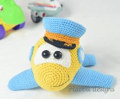 PATTERN  Pilot Plane crochet amigurumi by HavvaDesigns on Etsy
